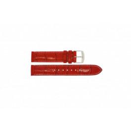 Klockarmband Timex T2M709 Läder Röd 18mm