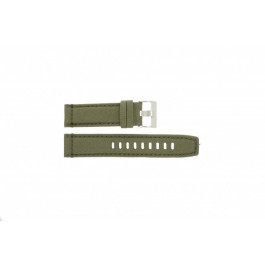 Klockarmband Timex T49822 / 2N726 / 2N724 / 28285 Läder/Textil Grön 22mm