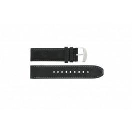 Klockarmband Timex P49988 Läder Svart 22mm