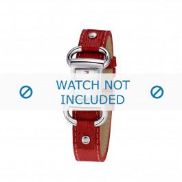 Tommy Hilfiger klockarmband TH-09-3-14-0613 / TH679300818 / TH1780621 Läder Röd + sömmar rött