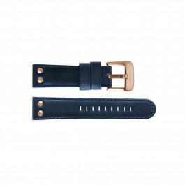 TW Steel klockarmband TWB405L Läder Blå 24mm + sömmar blå