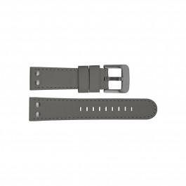 TW Steel klockarmband TWB420 Läder Grå 22mm + sömmar grå