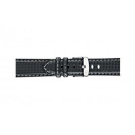 Morellato klockarmband Biking U3586977891CR24 / PMU891BIKING24 Kol Svart 24mm + sömmar grå