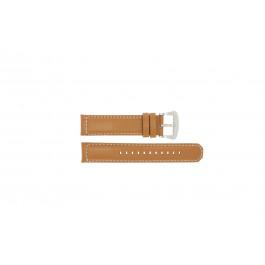 Klockarmband Seiko V172-0AG0 / SSC081P1 Läder Brun 21mm