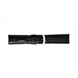 Morellato klockarmband Extra X3395656019CR30 / PMX019EXTRA30 Krokodil läder Svart 30mm + default sömmar