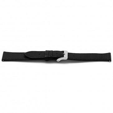 Klockarmband Läder svart 18mm EX-F133