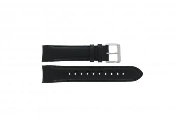 Hugo Boss klockarmband HB-232-1-27-2726 / HB1513085 Läder Svart 22mm + sömmar svart