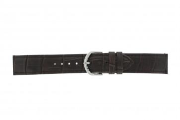 Olympic klockarmband 26HSL057 Läder Mörk brun 20mm + default sömmar