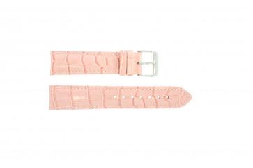 Klockarmband i äkta läder krokodilmönstrat rosa 24mm PVK-285