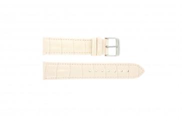 Klockarmband i äkta läder krokodilmönstrat ljusrosa 22mm PVK-285
