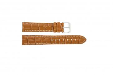 Klockarmband i äkta läder krokodilmönstrat ljusbrun 20mm PVK-285
