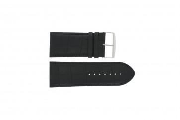 Klockarmband i skinn Buffekalv svart rem 24mm PVK-305