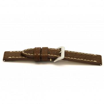 Klockarmband Universell H308 Läder Brun 22mm