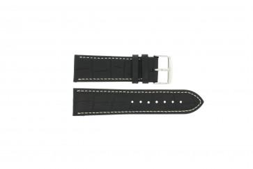 Klockarmband Universell 308R.01 Läder Svart 22mm