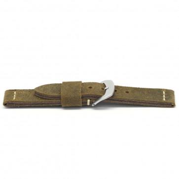 Klockarmband Universell G326 Läder Brun 20mm