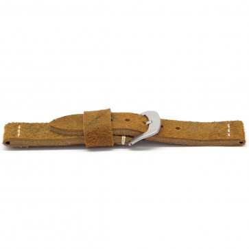 Klockarmband Universell G327 Läder Brun 20mm