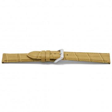 Klockarmband Läder beige guld 14mm EX-D339