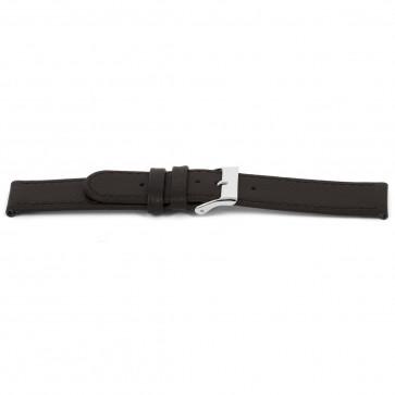 Klockarmband D400G Läder Brun 14mm + sömmar brun