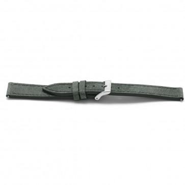 Klockarmband Läder grått 18mm EX-F817