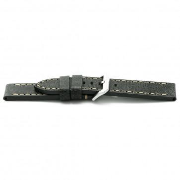 Klockarmband Universell H818 Läder Grå 22mm