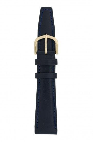 Davis klockarmband B0089 Läder Blå 16mm