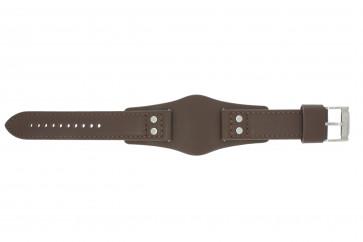 Klockarmband Fossil CH2565 Läder Brun 22mm