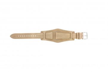 Klockarmband Fossil CH2794 Läder Beige 18mm