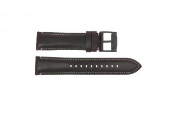 Fossil klockarmband FS-5088 Läder Mörk brun 22mm
