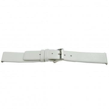 Klockarmband Läder vitt 24mm EX-I510