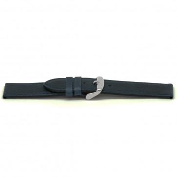 Klockarmband Läder kayakblå 20mm EX-G629