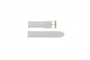 Klockarmband Guess W17516L1 Läder Vit 20mm