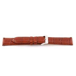 Klockarmband i äkta läder cognac 16mm EX-G62