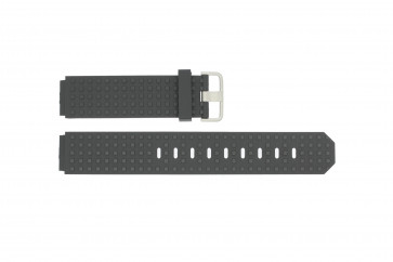 Klockarmband Jacob Jensen 400 / 410 / 411 / 412 / 413 Gummi Svart 17mm