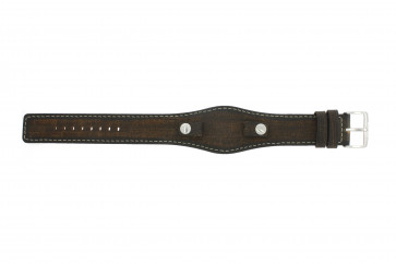 Klockarmband Fossil JR8130 Läder Brun 10mm