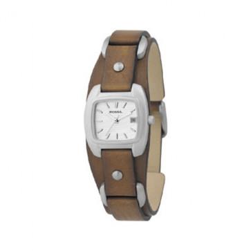 Klockarmband Fossil JR8897 Läder Brun 12mm