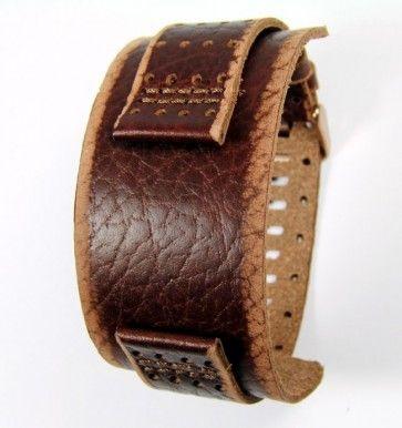 Fossil klockarmband JR9040 Läder Brun 22mm