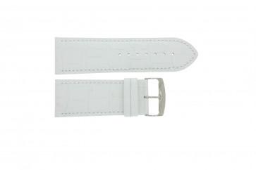 Klockarmband Universell 305.09 Läder Vit 30mm