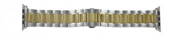 Apple (replacement model) klockarmband LS-AB-106 (Bi-color) Stål Guld (Doublé) 42mm