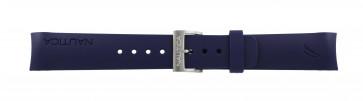 Nautica horlogeband A30004G / A12627G / A12627G / A14555 Rubber Blauw 22mm