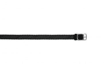 Perlon Klockarmband 10mm svart
