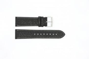 Klockarmband Universell 307.01 XL Läder Svart 24mm