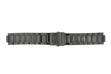 Klockarmband Q&Q QQ13ST-AC-ST Stål Antracitgrå 13mm