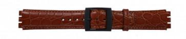 Klockarmband Swatch SC10.03 Läder Brun 17mm