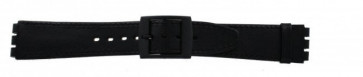 Klockarmband Swatch SC15.01 Läder Svart 16mm