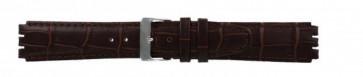 Rem för Swatch Äkta Läder mörkbrunt 17mm 21414