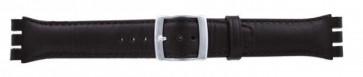 Klockarmband passande Swatch mörkbrunt 19mm