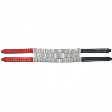 Tommy Hilfiger klockarmband F80132 / 1780068 Läder Rött / Blå 4mm