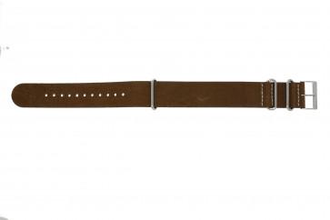 NATO klockarmband UH14 Läder Brun 22mm