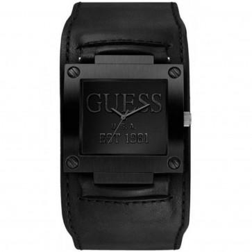 Klockarmband Guess W0418G3 / W1166G2 Läder Svart 19mm