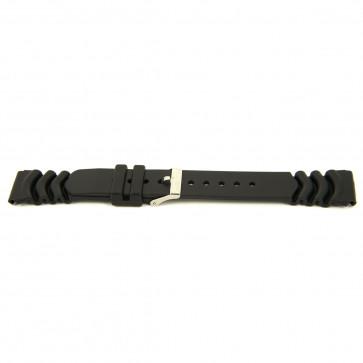 Klockarmband Gummi 18mm Svart EX 6